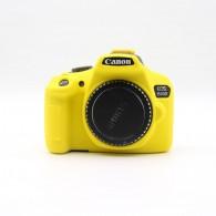 Capa / Case Silicone Para Proteção Canon T6 1300d / T5 1200d Amarelo