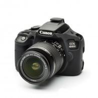 Capa / Case Silicone Proteção Canon Eos T100 / 4000D - Preta