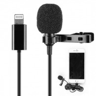 Microfone Lapela Lucacell LC-M2 Lightning Para iPhone Apple