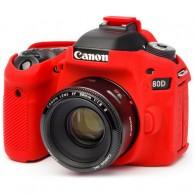 Capa / Case Silicone Para Proteção Canon 80d Vermelha