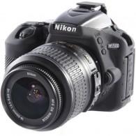 Capa / Case Silicone Para Proteção Nikon D5500 / D5600 Preta