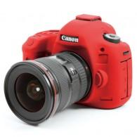 Capa / Case Silicone Para Proteção Canon 5d Mark Iii Vermelho