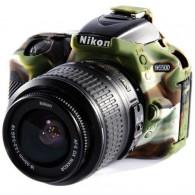 Capa / Case Silicone Para Proteção Nikon D5500 / D5600 Camuflada