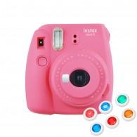 Câmera Instantânea Instax Mini 9 C/ 6 Filtros - Rosa Flaming