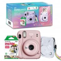 Kit Câmera Instax Mini 11 + Filme + Bolsa - Rosa