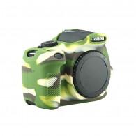 Capa / Case Silicone Para Proteção Canon T6i / 750d Camuflado