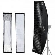 Softbox Para Flash De Estúdio Com Montagem Bowens 35x160cm