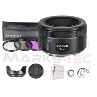 Super Kit Lente Canon 50mm STM F/1.8 Com kit Filtros