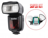Kit Flash Godox Tt685c Ttl Canon + Rebatedor + Carregador Sony + Difusor