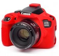 Capa / Case Silicone Para Proteção Canon T6 1300d / T5 1200d Vermelho