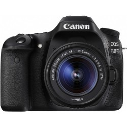 Câmera Canon 80d com 18-55mm STM