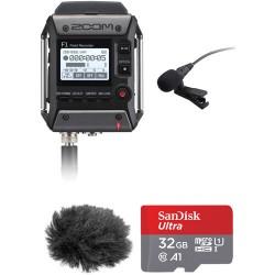 Gravador Zoom F1-lp Com Microfone Lapela