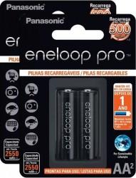 Pilhas Panasonic Eneloop Pro AA 2550mAh Recarregável