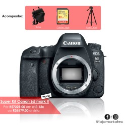 Super Kit Canon 6d Mark II Corpo Com Tripé + Cartão 32gb + Case