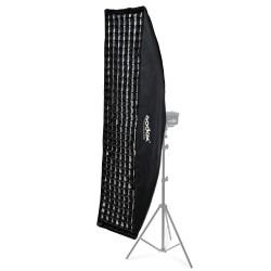 Softbox Bowens Para Flash de Estúdio 35x160cm Com Grid