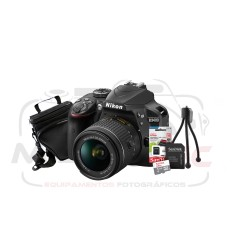 Super Kit Nikon D3400 Com 18-55mm + Tripe + Cartão 32gb + Case