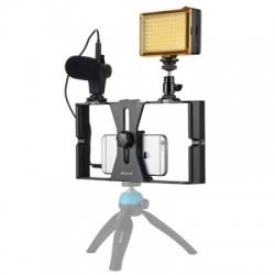 Kit Youtuber Puluz Estabilizador + Led 96 + Microfone