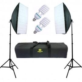 Kit Iluminação Agata Ii Com Lampadas Para Estúdio 220v