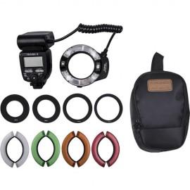 Flash Circular Ring Yongnuo YN-14 EX II TTL Macro Com filtros
