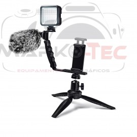 Kit 6 em 1 P/ Live Streaming Vlogging Para Smartphone Greika