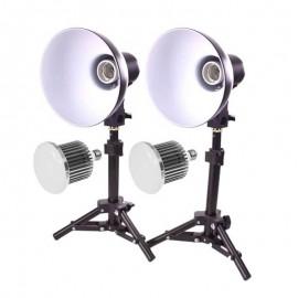 Kit Iluminação Refletor Pk-l45 Com Lampadas Led 50w Bivolt