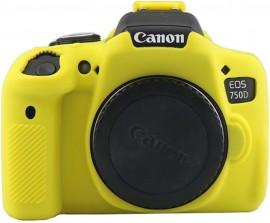 Case Silicone Proteção Canon T6i/T6s/750d/760d - Amarelo