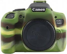 Case Silicone Proteção Canon T6i/T6s/750d/760d - Camuflada