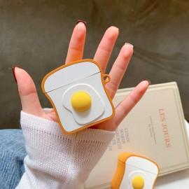 Case De Proteção Para Apple AirPods 1 E 2 Pão Com Ovo Egg