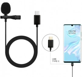 Microfone Lapela Lc-m3 Tipo C Para Android Smartphone