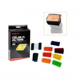 Kit Filtros Universal Para Flash Godox Cf-07