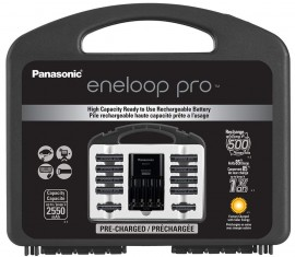 Kit Carregador Panasonic Eneloop + 8 Pilhas AA + 2 Pilhas AAA C/ Case