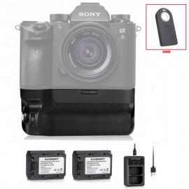 Grip Meike Sony A9 A7r Iii A7 Iii + 2 Baterias + Carregador duplo + Disparador