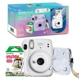 Kit Câmera Instax Mini 11 + Filme + Bolsa - Branca