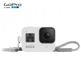 Capa Silicone Sleeve GoPro Hero 8 Black + Cordão Layard - Branco