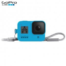 Capa Silicone Sleeve GoPro Hero 8 Black + Cordão Layard - Azul