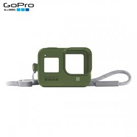 Capa Silicone Sleeve GoPro Hero 8 Black + Cordão Layard - Verde