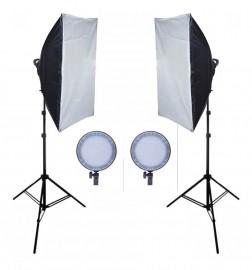 Kit Iluminação Estúdio Com Led Softbox Max 45 - Bicolor 600w
