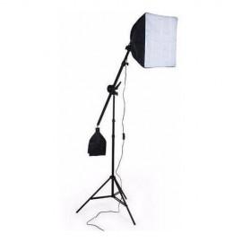 Kit Softbox Com Suporte Girafa 40x40 Completo C/ Haste 110v