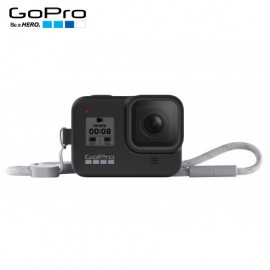Capa Silicone Sleeve GoPro Hero 8 Black + Cordão Layard - Preto