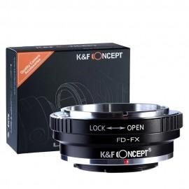 Adaptador De Lentes K&F CONCEPT Canon Fd Para Fujifilm Fx