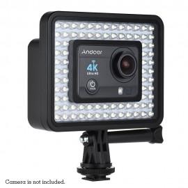 Led Gopro Iluminador 80 4/3 +/3 Xiaomi Yi 4 K Sj Cam