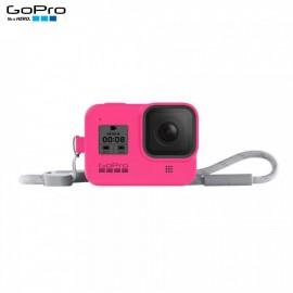 Capa Silicone Sleeve GoPro Hero 8 Black + Cordão Layard - Rosa