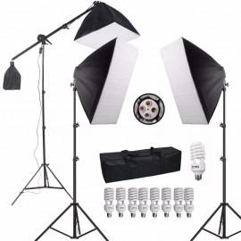 Kit De Iluminação P/ Estúdio Eros Pk-sb03 495w Com Lampada 220V