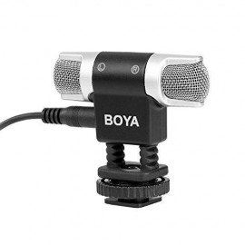 microfone Boya By-mm3 Condensador Para camera fotografica e smartphone