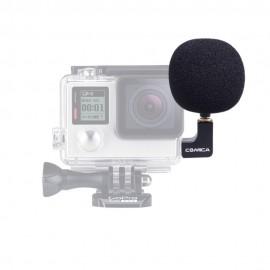 Microfone Direcional P/ Gopro Comica Com Conversor De Audio