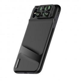 Capa / Case Para iPhone Xs Com 6 Lentes Macro Fisheye Zoom