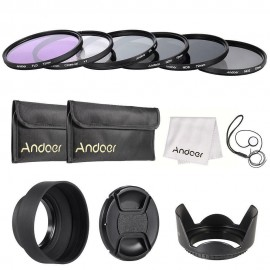 Kit Filtros 67mm Uv + Cpl + Fld + Nd (nd2 Nd4 Nd8) Com Bolsa