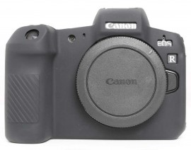 Capa / Case Silicone Para Proteção Canon Eos R Miroless Preta