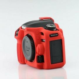 Capa Silicone Para Proteção Nikon D5500 / D5600 - Vermelha