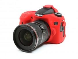 Capa / Case Silicone Para Proteção Canon Eos 70d - Vermelha